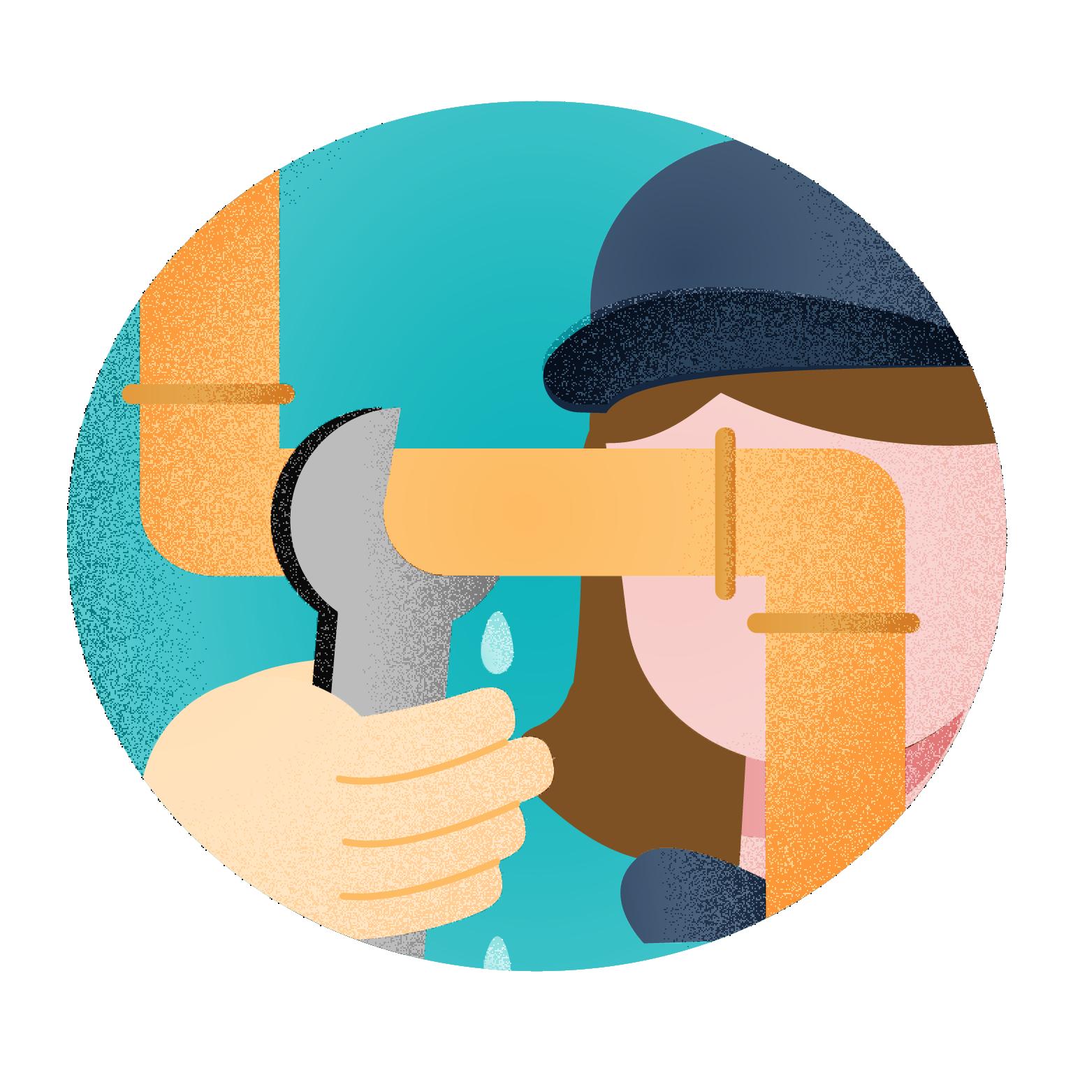 ícone trocando cano